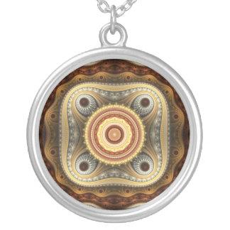 Grand Julian Fantasy Round Pendant Necklace