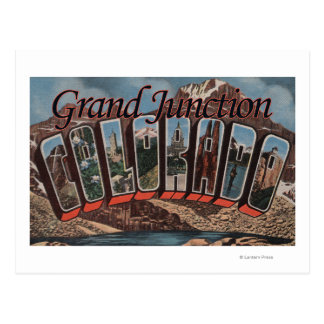 Grand Junction, Colorado - Large Letter Scenes Post Cards