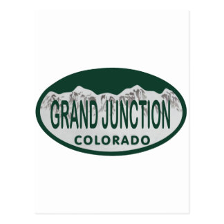Grand Junction license oval Post Card