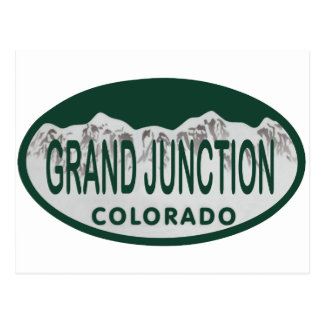 Grand Junction license oval Postcard