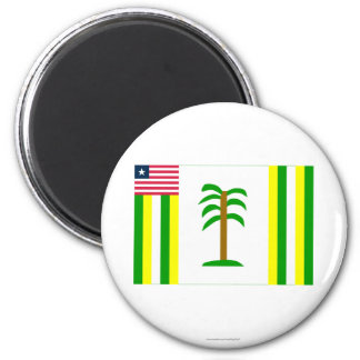 Grand Kru County Flag 2 Inch Round Magnet
