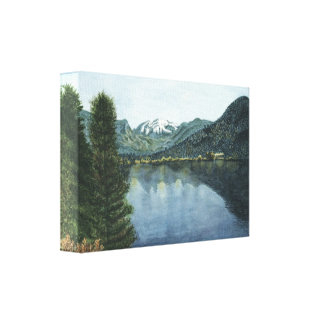 Grand Lake, CO  Watercolor Painting on Canvas