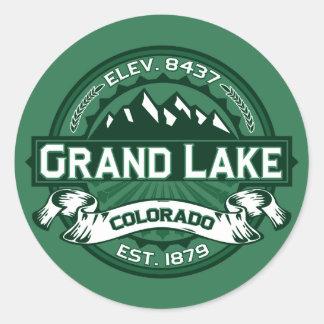 "Grand Lake ""Colorado Green"" Logo Classic Round Sticker"