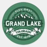 "Grand Lake ""Colorado Green"" Logo Round Stickers"