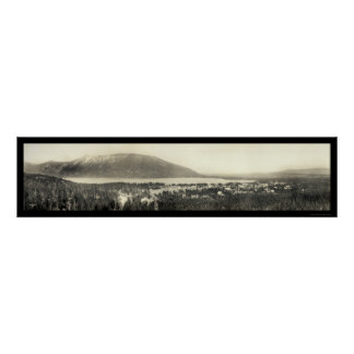 Grand Lake, Colorado Panoramic Photo 1911 Poster