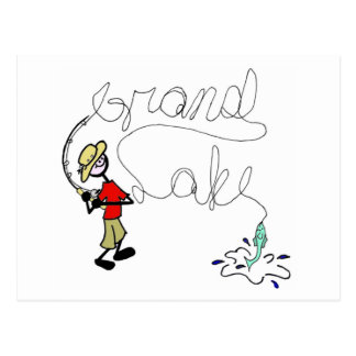 Grand Lake Fishing Postcard