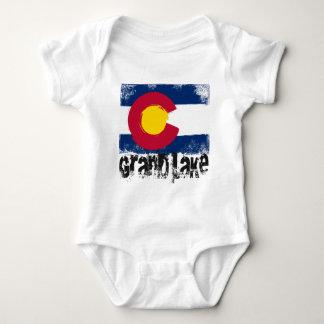 Grand Lake Grunge Flag Baby Bodysuit