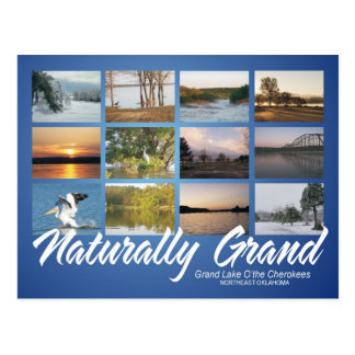 Grand Lake Oklahoma naturally 16rev post card