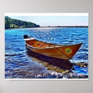 Grand Manan Island Dulse Boat New Brunswick Poster