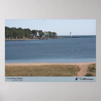 Grand Marais Harbor - Michigan Poster
