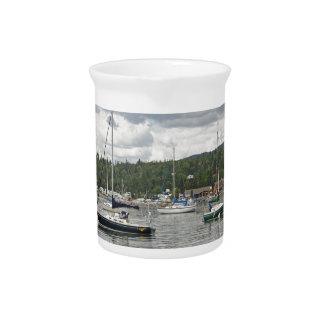Grand Marais Sail Boats Beverage Pitchers