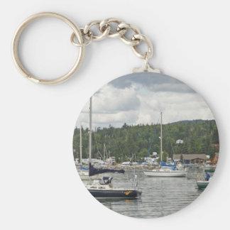 Grand Marais Sail Boats Keychain