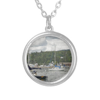 Grand Marais Sail Boats Silver Plated Necklace