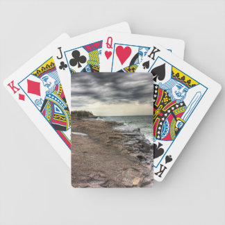 Grand Marais Shoreline Bicycle Playing Cards
