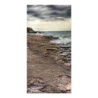 Grand Marais Shoreline Customized Photo Card