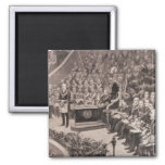 Grand Masonic Gathering in the Royal Albert 2 Inch Square Magnet