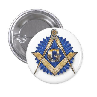 Grand Masonic Lodge Pinback Button