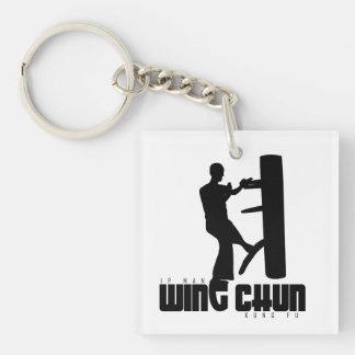 "Grand Master - Ip Man ""Wing Chun"" Wooden Dummy Single-Sided Square Acrylic Keychain"