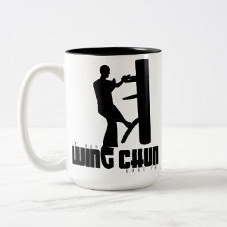 "Grand Master - Ip Man ""Wing Chun"" Wooden Dummy Two-Tone Coffee Mug"