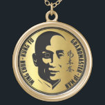 "Grand Master Yip Man - Wing Chun Kung Fu Gold Plated Necklace<br><div class=""desc"">Yip Man Wing Chun Kung Fu</div>"