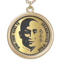 Grand Master Yip Man - Wing Chun Kung Fu Gold Plated Necklace