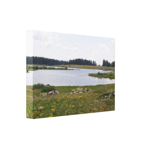 Grand Mesa Colorado Jumbo Reservior Stretched Canvas Prints