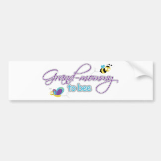 Grand Mommy To Be Car Bumper Sticker