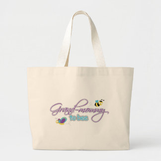 Grand Mommy To Be Large Tote Bag