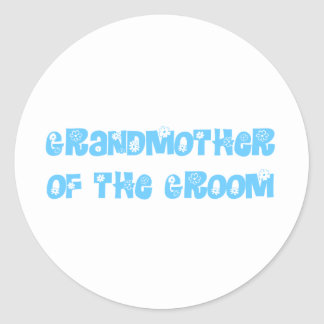 Grand Mother of the Groom Classic Round Sticker
