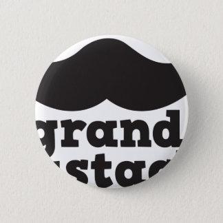 Grand Mustache Pinback Button