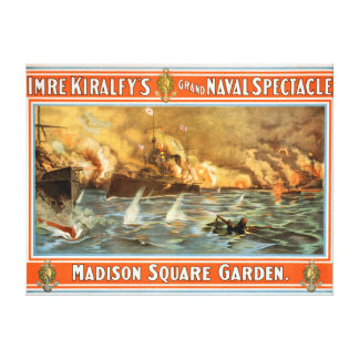 Grand Naval Spectacle Madison Square Garden Canvas Print