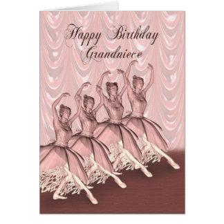 Grand Niece, a ballerina birthday card