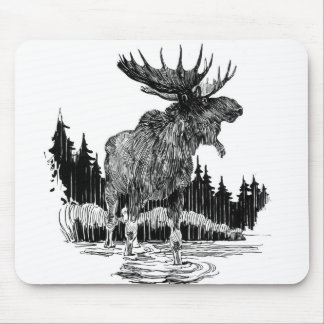 Grand Old Moose Mouse Pads