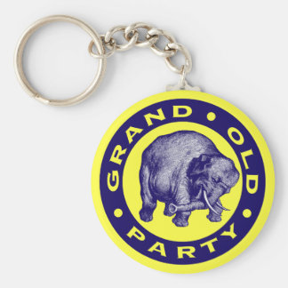Grand Old Party Basic Round Button Keychain