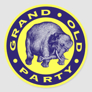 Grand Old Party Classic Round Sticker
