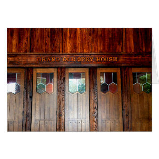 Grand Ole Opry House Stationery Note Card