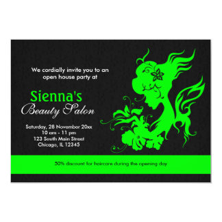 Grand Opening Beauty Salon Lime Card