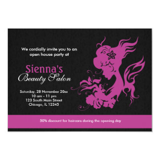 Beauty salon grand opening invitations announcements for Ada beauty salon