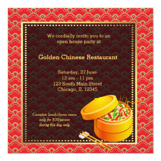 Opening a restaurant invitations announcements zazzle grand opening chinese restaurant card stopboris Images