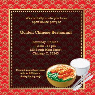 Restaurant grand opening invitations zazzle grand opening chinese restaurant invitation stopboris Images