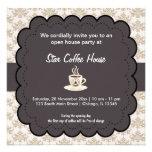 Grand Opening Coffee House Custom Invite