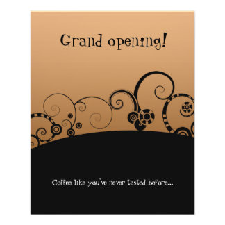 """Grand Opening """"coffee shop"""" flyer"""