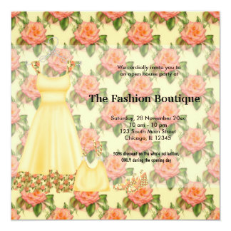 Business grand opening invitations announcements zazzle grand opening fashion business card stopboris Gallery