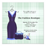 Grand Opening Fashion business 5.25x5.25 Square Paper Invitation Card