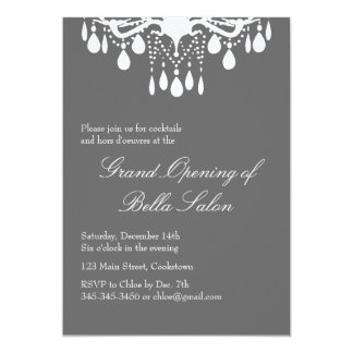 Grand openings invitations zazzle grand opening grand ballroom on smokey gray card stopboris