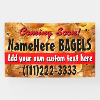 Grand Opening.Hot Bagels Customizable Promotional Banner