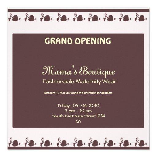 grand opening invitation square invitation card zazzle. Black Bedroom Furniture Sets. Home Design Ideas