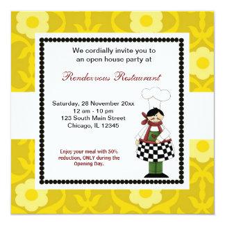 Grand Opening 5.25x5.25 Square Paper Invitation Card