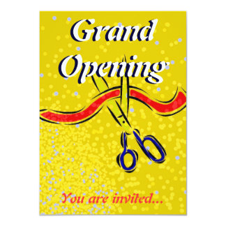 Grand Opening Launch gold party invitation