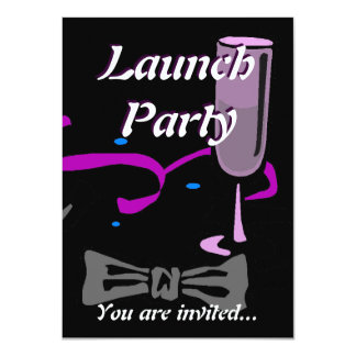 Grand Opening Launch party black tie formal Card